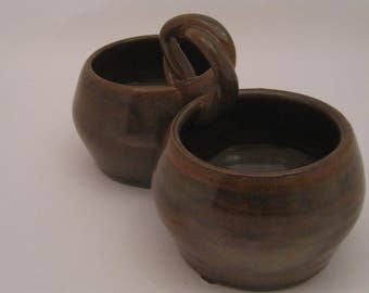 Hand Thrown Pottery Condiment Server Duo
