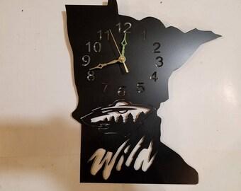 Metal Minnesota wild clock minnesota state clock