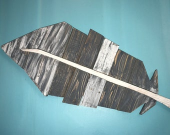 Pallet Feather Wall Art