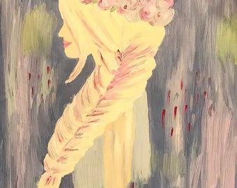 Custom Disney Princess Oil Painting- Elsa from Frozen