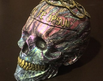 Skull Box (psychodelic paint)