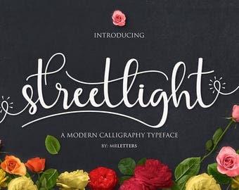 New Font Streetlight, Moder Calligraphy, Hand Lettering
