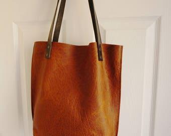 leather tote .tote sale.leather handbag. custom handbag.leather tote bag. distressed leather bag.. tote bag.brown leather tote.Market Bag