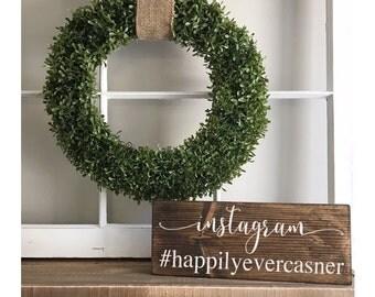 "Instagram Hashtag Sign - social media sign - wedding sign - hashtag sign -instagram - wedding decor-wedding prop -facebook 5 1/2"" x 14"""