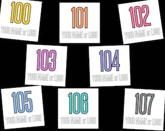 CUSTOM LLR Live Show Number Tags