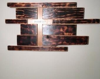 Wooden Cross, Wall Art, Handmade