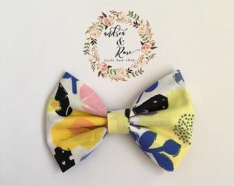 Spring Flower Bow | Hair Clip