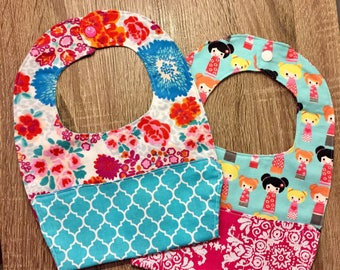 2 pk food catching pocket bibs
