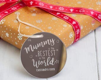 Personalised 'Bestest' Mirrored Christmas Baubles