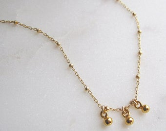 Flow Necklace, Gold Necklace, 14k Gold Filled Necklace, Delicate Necklace, Long Chain Necklace,  Layering Necklace, Thin Chain Necklace