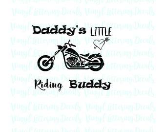 Iron on SVG digital file | Daddy's Buddy | Biker | Cricut Silhouette Cameo SCAL cutting machine file | Harley Davidson file download