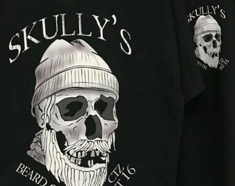 Skully's TEE- SKully's Ctz Beard Oil Logo-Black**Free US shipping**use code CTZ16 at checkout