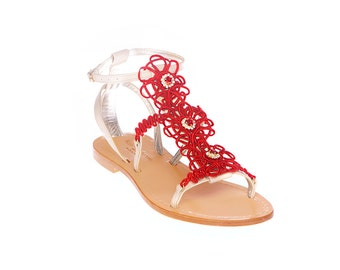 Caprese And Alessia Sandal Red