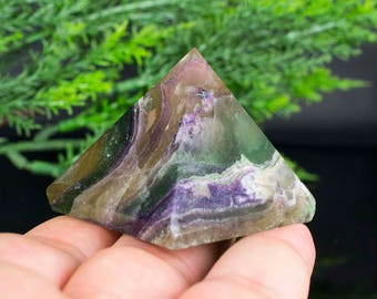 Pyramid Shaped Fluorite