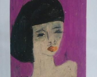Oil Pastels Portrait