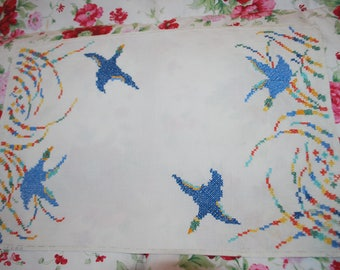 Duck Cross Stitch Fabric Placemat