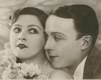 Jazz Couple | Dapper Chap & Lovely Lady  | Romance | Paramour Postcard | Art Deco |