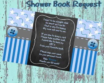 Baby Boy Blue/Chalk Shower Book Request