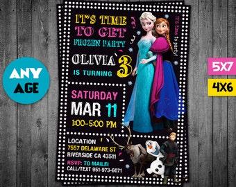 Frozen Invitation, Frozen, Frozen Party, Frozen Printable, Frozen Invite, Frozen Birthday Party, Frozen Card