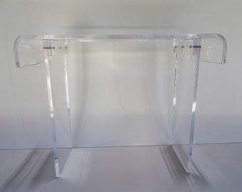 "New Acrylic Console -Sofa- Desk - Table    3/4"" thick Plexiglas"
