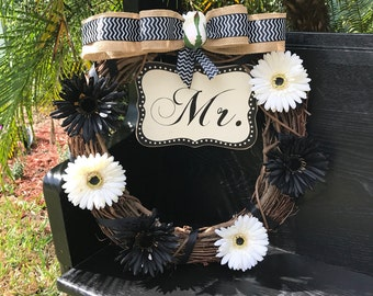 Mr wedding Wreath