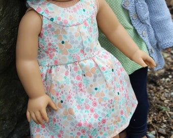 """Spring 2017 """"Maggie"""" in Candy Floral for 18"""" Dolls"""