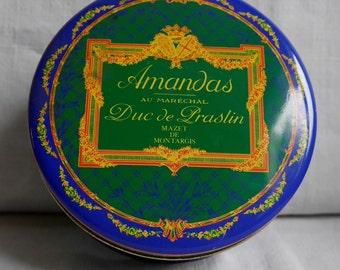 Box of candy traditional - France Montargis Mazet - Amandas - Duke of Praslin - 13cm - 6 cm