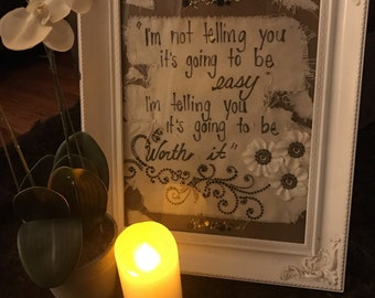 Vintage Frame and Mixed Media Quote