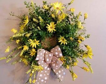 Best seller, Spring wreath, farmhouse, summer wreath, Mothers day wreath, daisy Wreath, Country wreath, top selling item, Easter wreath