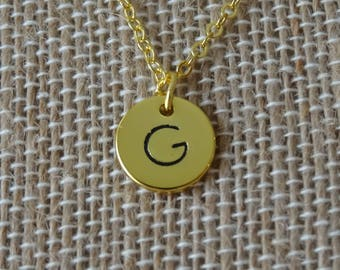 Monogram Necklace Gold, Initial Necklace