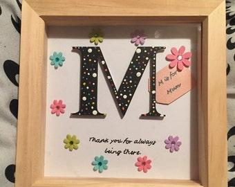 Homemade Mother's Day box frame