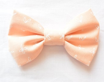Heart and Flower Bow // Headband // Clip