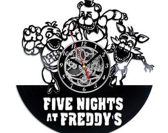 Five Nights Freddys retro Vinyl record clock Home design home decor wall clock