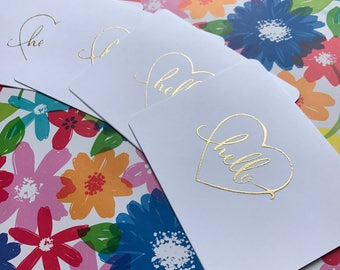 Gold Greeting Card Set