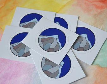 Mini Round Mountain Sticker