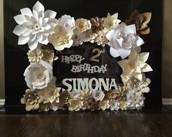 Paper Flower Frame/Billboard