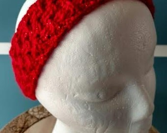 Crocheted Ripply Glitter Headband
