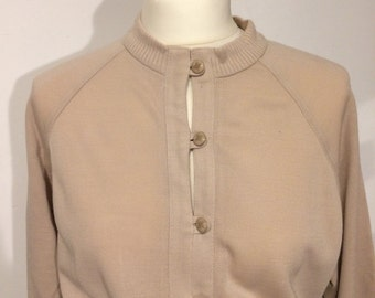 Beautiful original vintage dress 70s beige unworn! Price tag still available