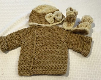 Baby Girl Hat and Sweater set
