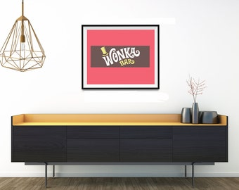 Willy Wonka & the Chocolate Factory,Willy Wonka Bar, Willy Wonka, Chocolate, Candy, Digital Download