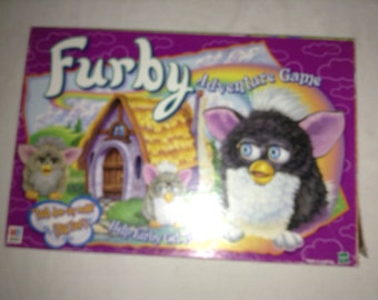 1997 Furby Adventure Board Game from Milton Bradley
