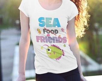 SEA FRIENDS | Vegan shirt, Vegan Clothing, Vegan Gifts, vegan top, vegan clothes, vegan t shirt, vegan apparel, vegan tshirt