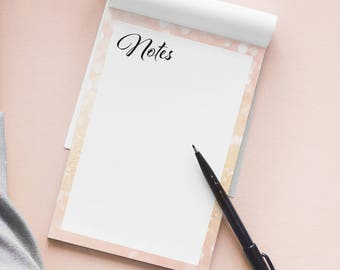 A5 Note pad in pink champagne - note pad - notes - writing pad - desk pad - to-do - lists - diary - notebook - office stationery