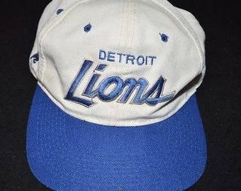 Vintage 1990's Sports Specialties Detroit Lions Hat Snap Back