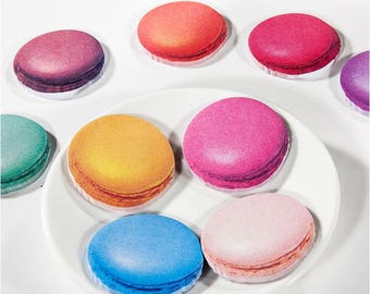 Sweet Macaron Sticky Notes ~ Colorful Memo Pads, DIY, Planner Notes, Decorative Sticky Notes, Food Stationery, Pastry Post it, Macaron Notes