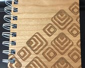Wooden Notebook - Laser C...
