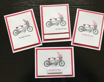 Tandem Bicycle Sympathy Card