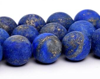 """8MM Matte Lapis Lazuli Natural Gemstone Full Strand Round Loose Beads 15"""" (101158-325"""