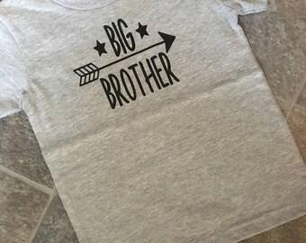 Big Brother, Big, Brother, Big Brother Shirt, Brother Shirt, Grey tshirt, Brother tshirt, Toddler Shirt, Boy, Boy Shirt