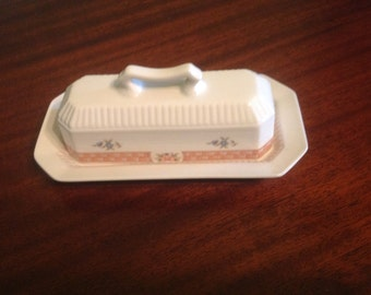 Vintage cottage butter dish